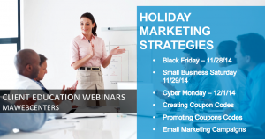 Client Webinar Holiday Marketing Strategies